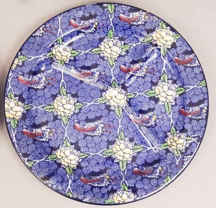 Four plates, includes a pair of English napkin plates, - 2