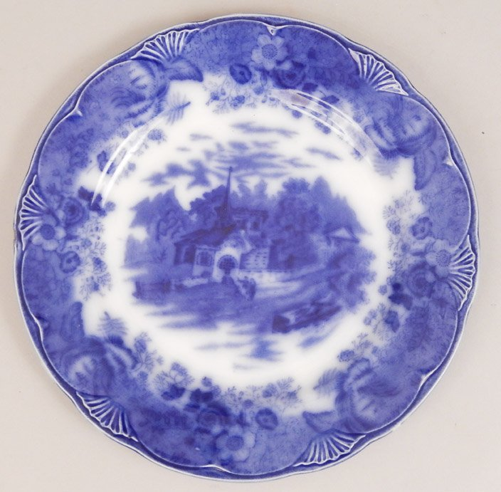 Four plates, includes a pair of English napkin plates, - 4