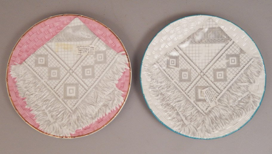 Four plates, includes a pair of English napkin plates, - 6