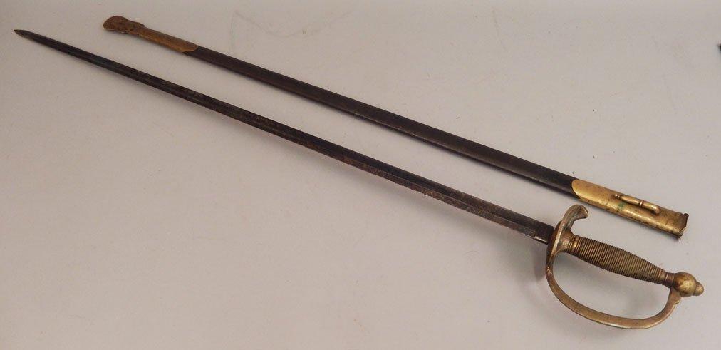Emerson & Silver Civil War NCO sword in scabbard