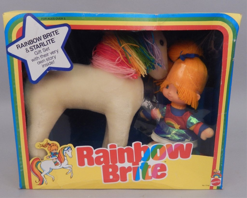 Mattel Rainbow Brite & Starlite Gift Set in original