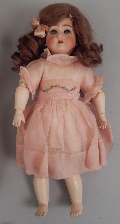 Franz Schmidt bisque head doll, two bisque dolls - 2