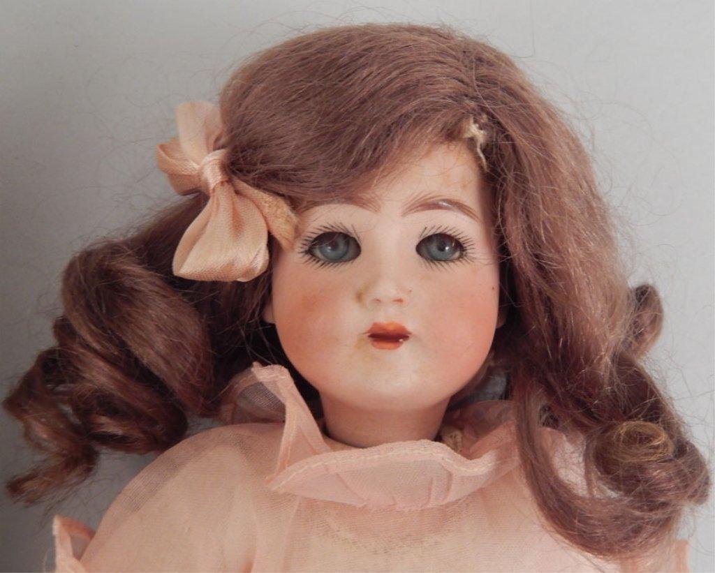 Franz Schmidt bisque head doll, two bisque dolls - 3