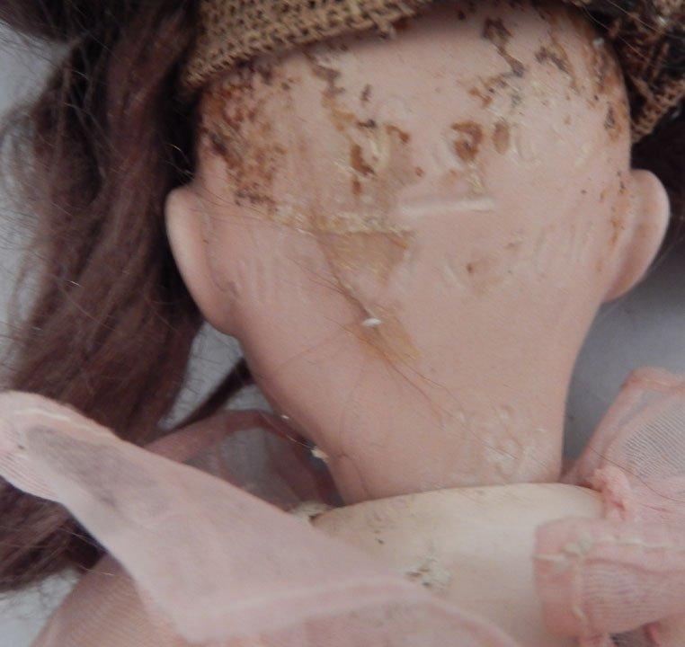 Franz Schmidt bisque head doll, two bisque dolls - 4
