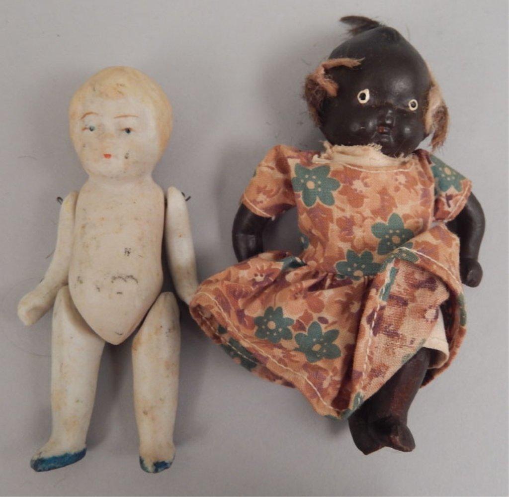 Franz Schmidt bisque head doll, two bisque dolls - 6