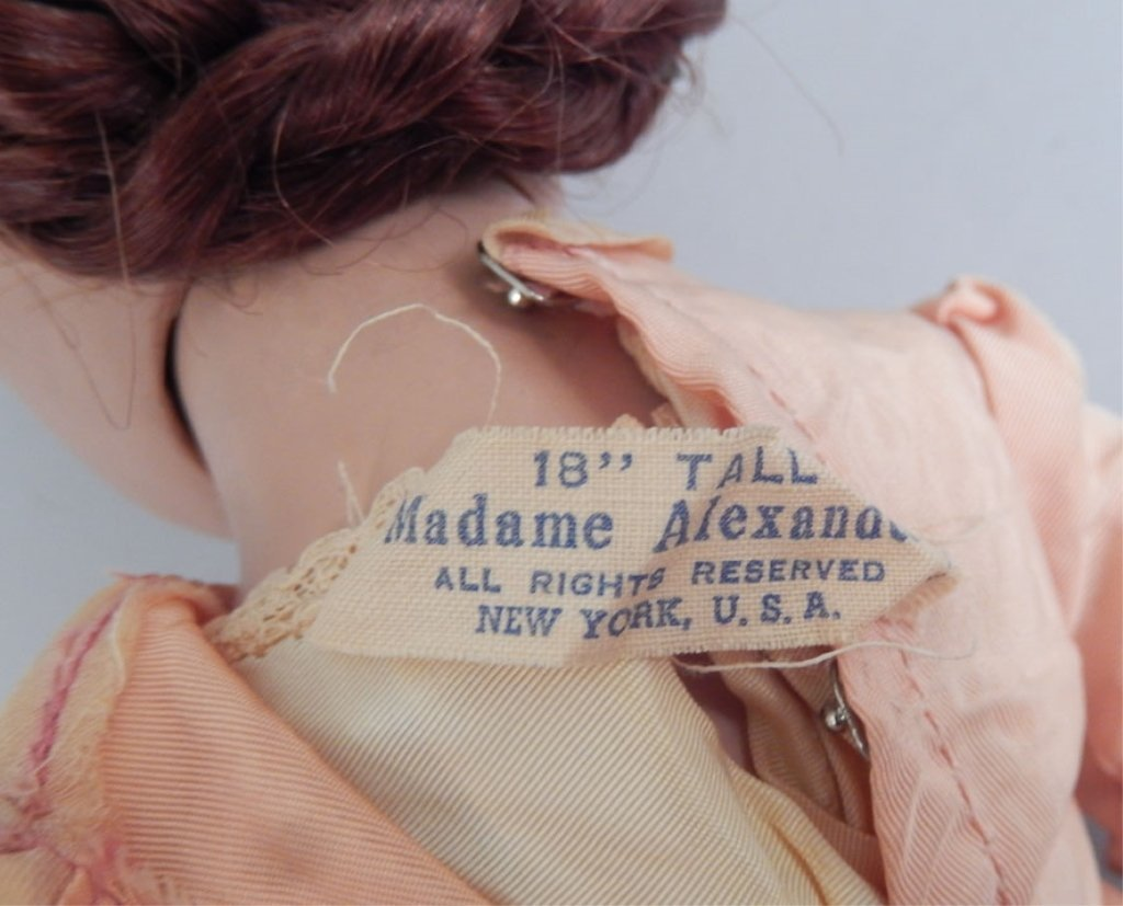 Madame Alexander Marme hard plastic doll - 3