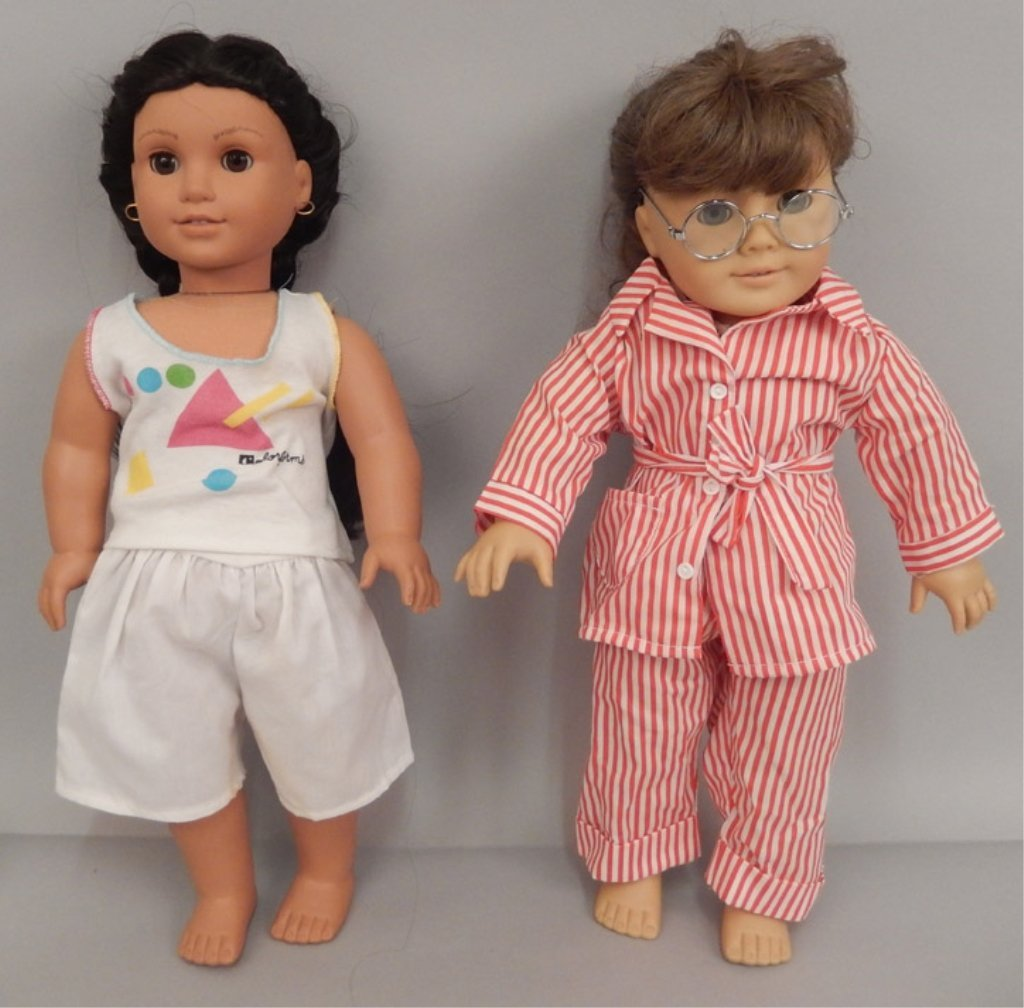Two American Girl dolls with accessories and books - 7