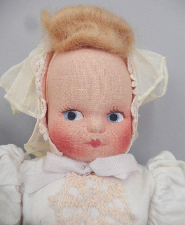 Pair of stockinette dolls - 3