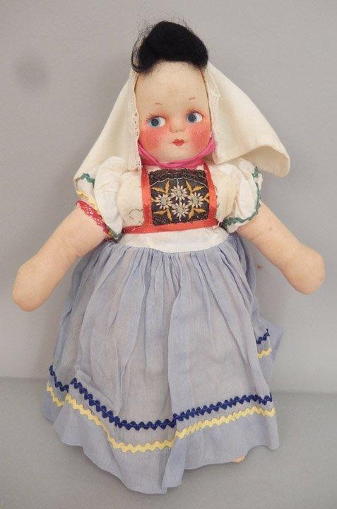 Pair of stockinette dolls - 4