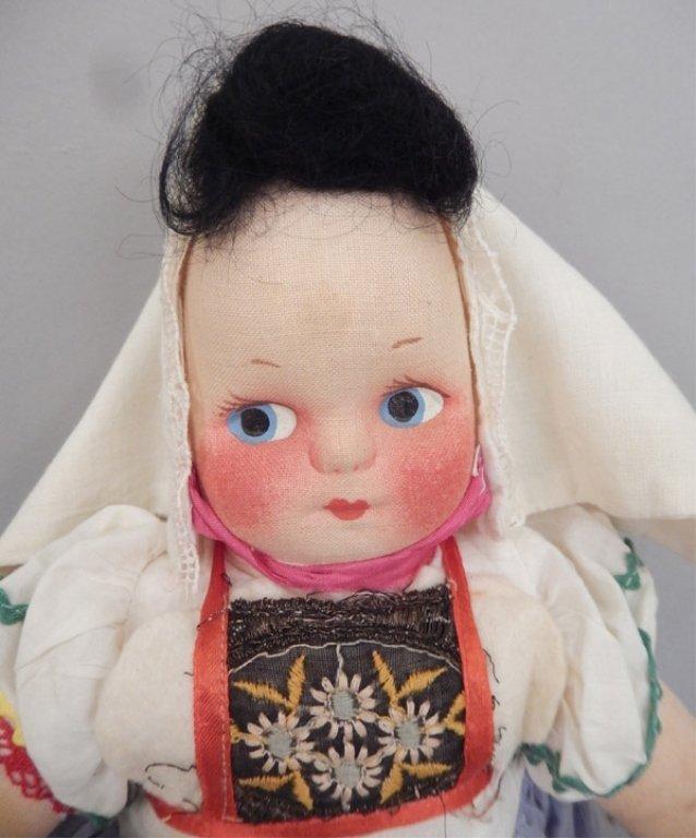 Pair of stockinette dolls - 5