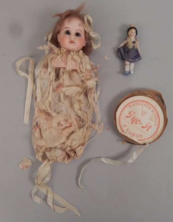 Bisque shoulder head and bisque jointed doll