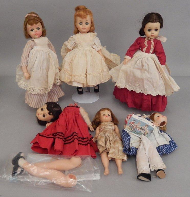Six Madame Alexander dolls