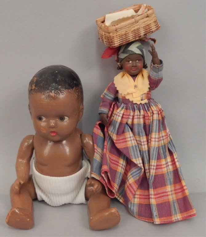 Grouping of composition dolls - 10