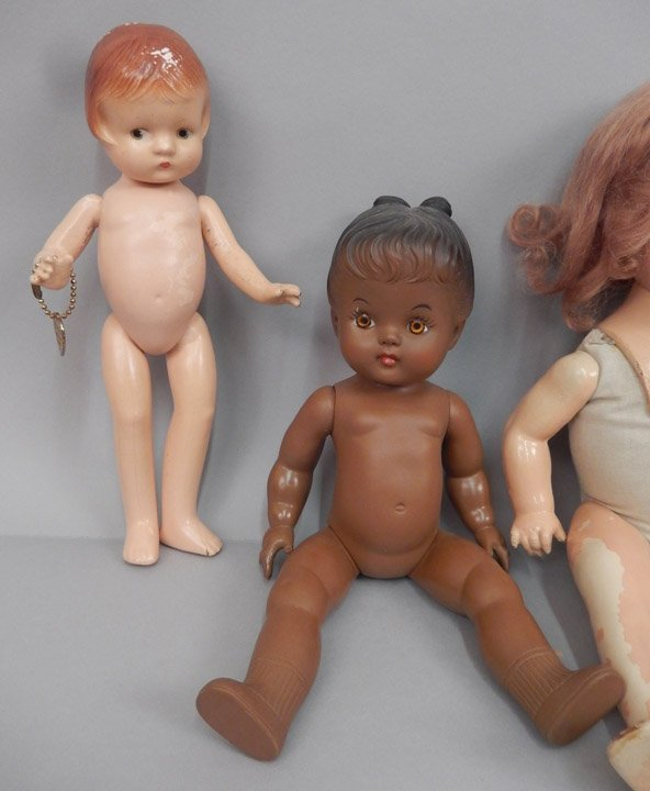 Grouping of composition dolls - 5