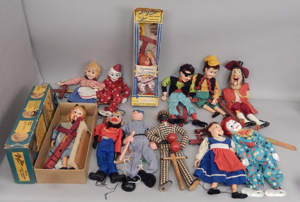 Large grouping of marionettes