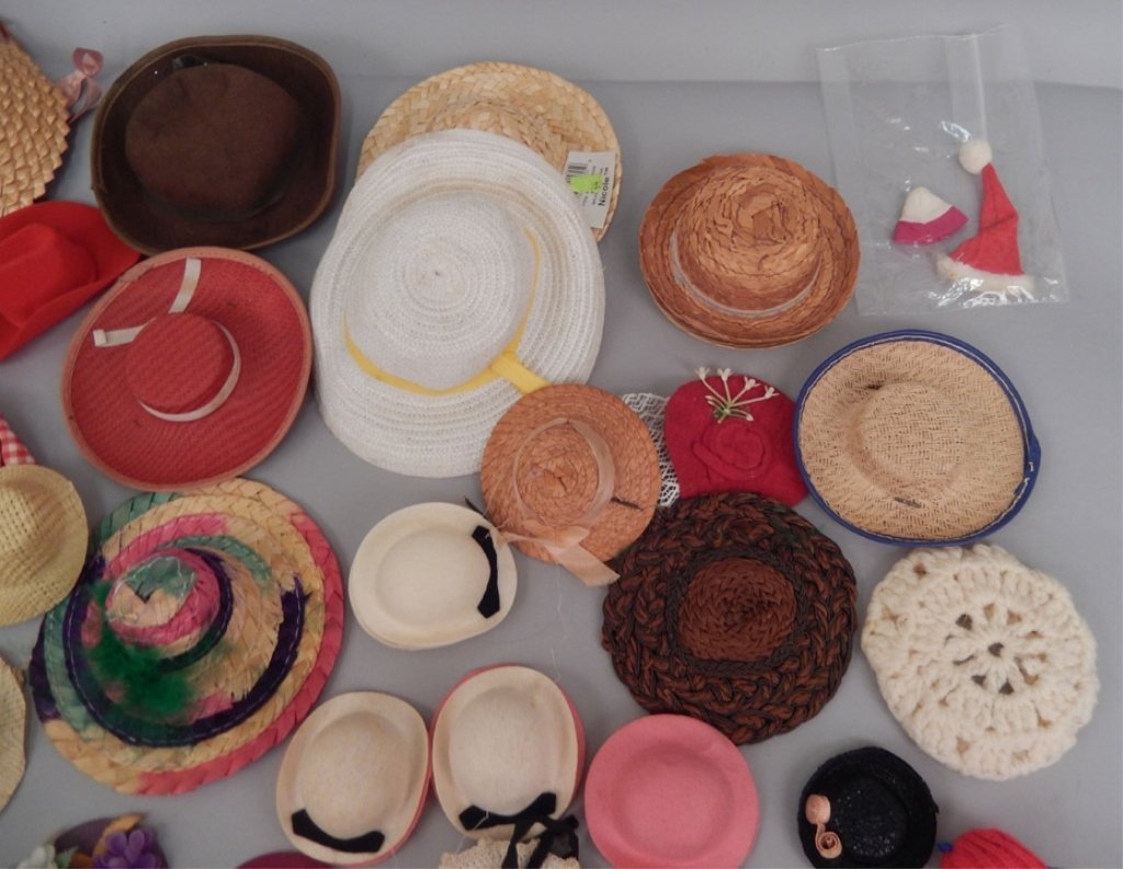 Grouping of doll hats - 2