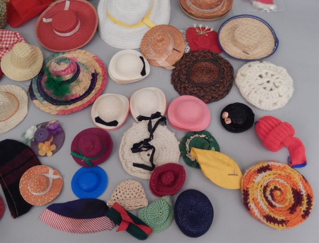 Grouping of doll hats - 3