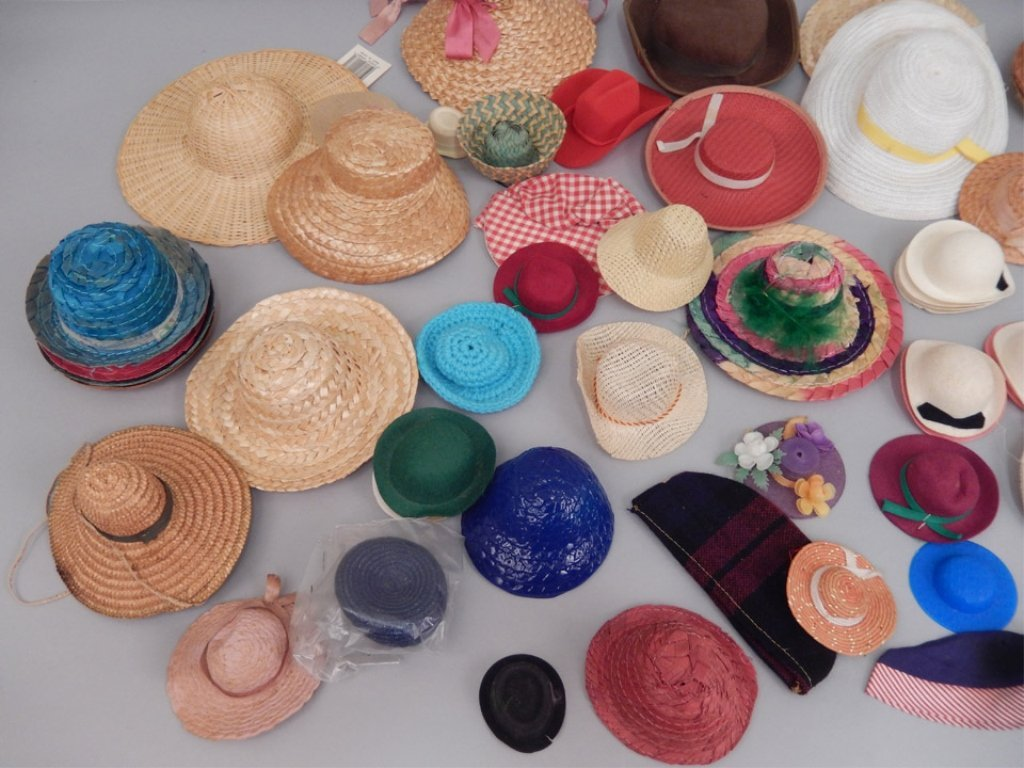 Grouping of doll hats - 4