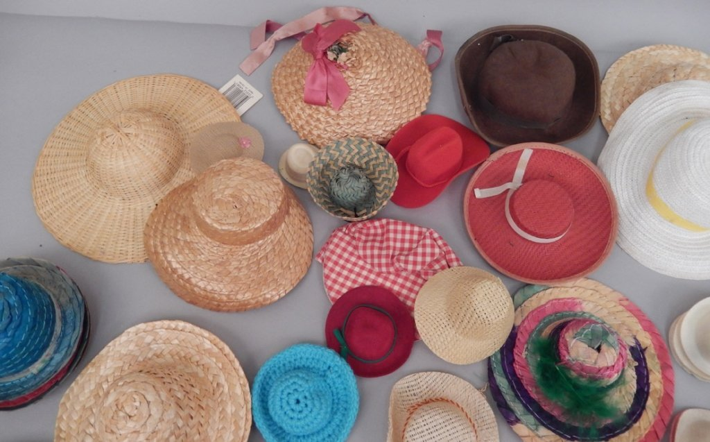 Grouping of doll hats - 5