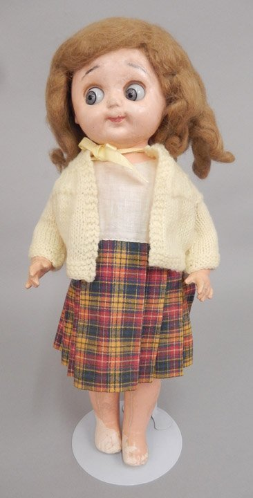 Einco googly eyed composition doll
