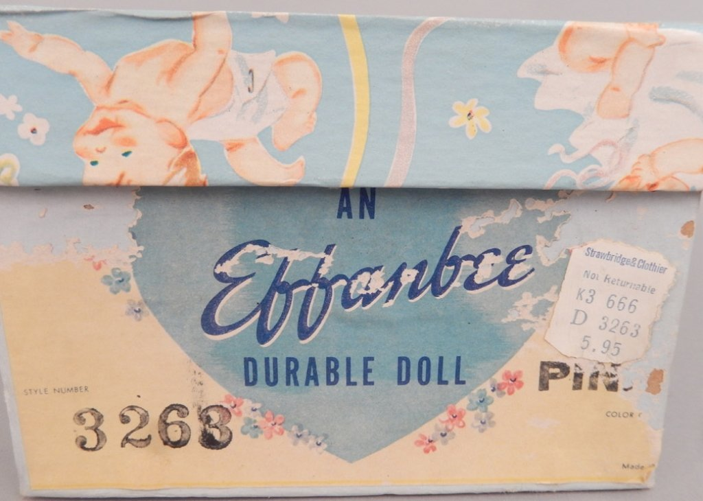 Effanbee hard plastic Patsy Baby in original box - 5