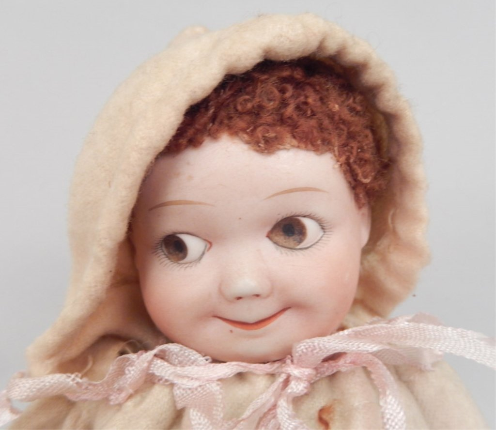 Heubach googly eyed bisque head doll - 2