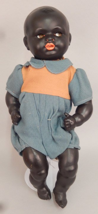 Early German black bisque googly eyed doll - 2