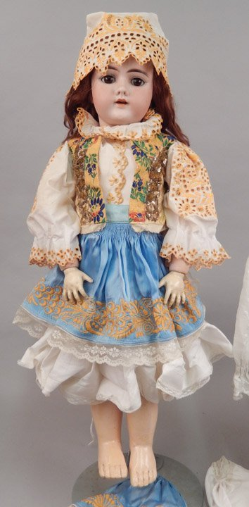 German 109 bisque socket head doll