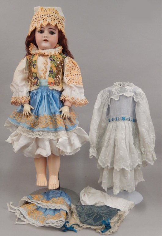 German 109 bisque socket head doll - 2