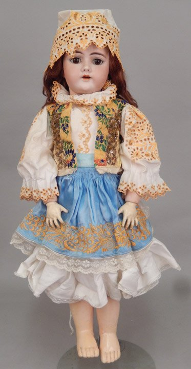 German 109 bisque socket head doll - 6