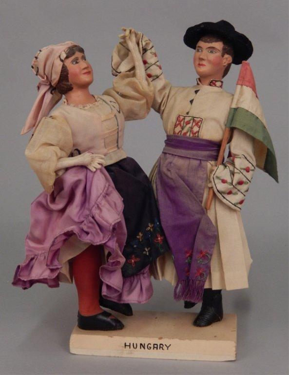 Pair of WPA Dolls Hungary