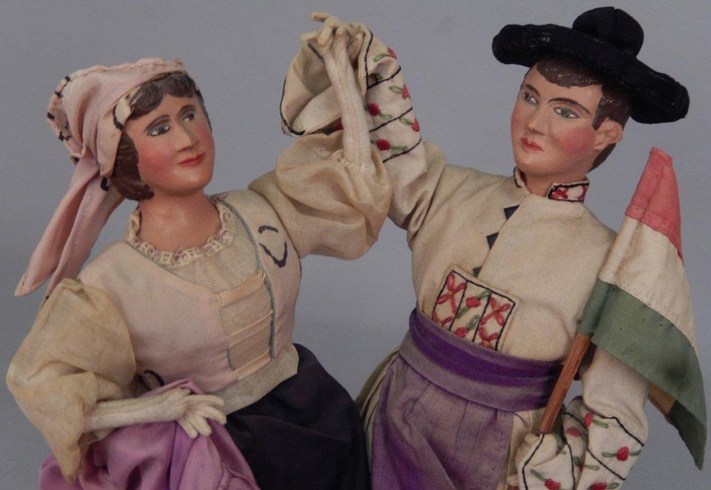 Pair of WPA Dolls Hungary - 2
