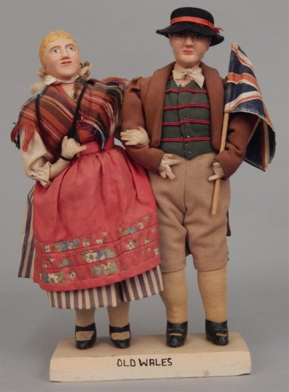 Pair of WPA Dolls Old Wales