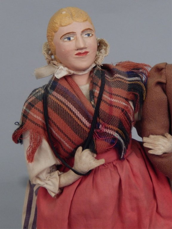 Pair of WPA Dolls Old Wales - 3