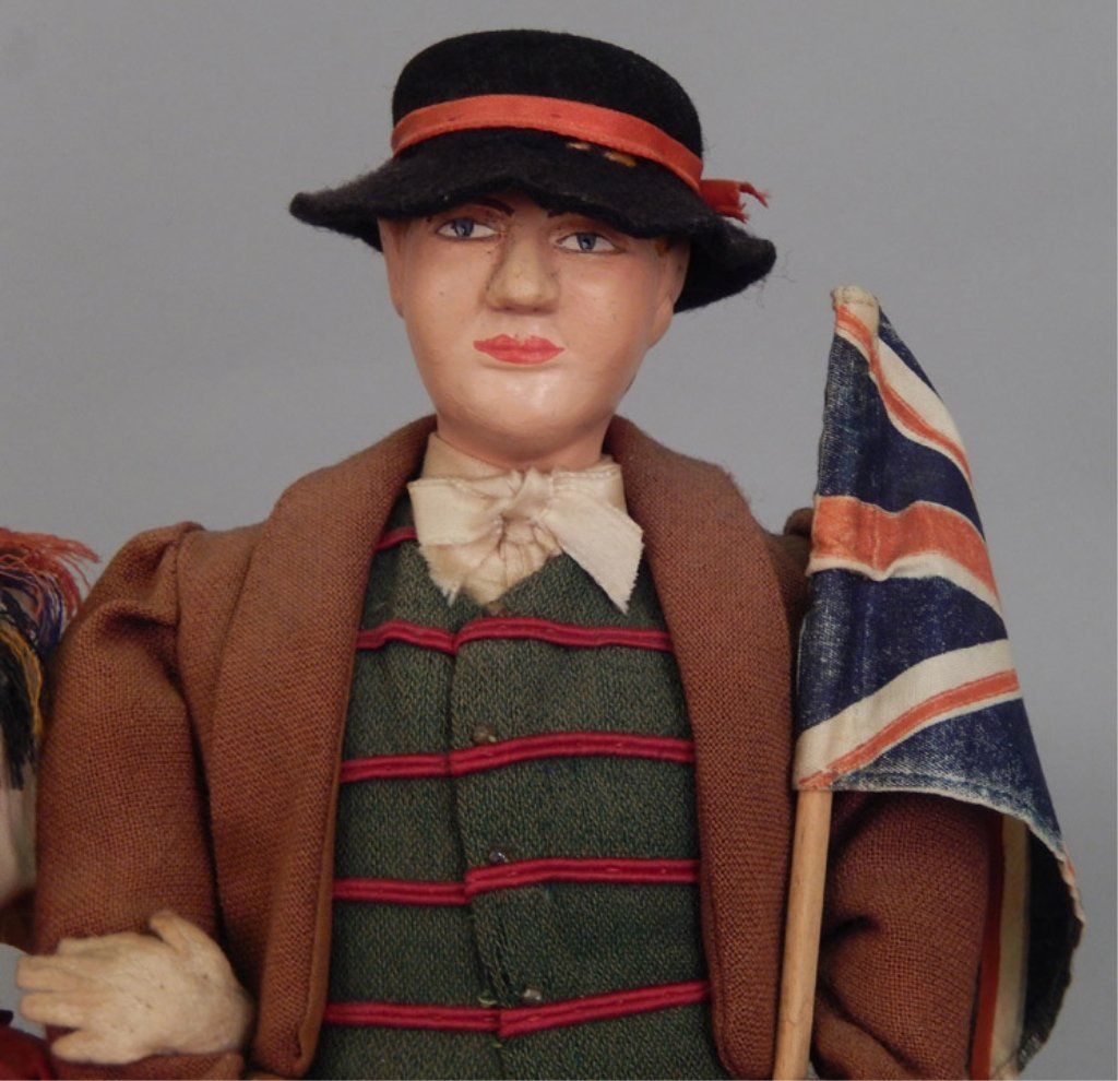 Pair of WPA Dolls Old Wales - 4