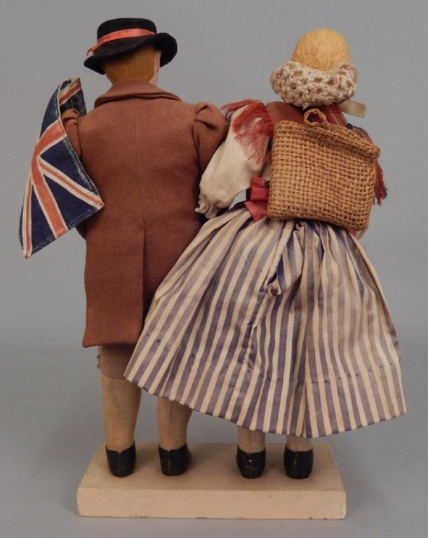 Pair of WPA Dolls Old Wales - 5