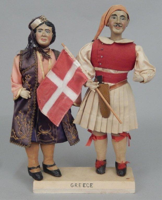 Pair of WPA Dolls Greece