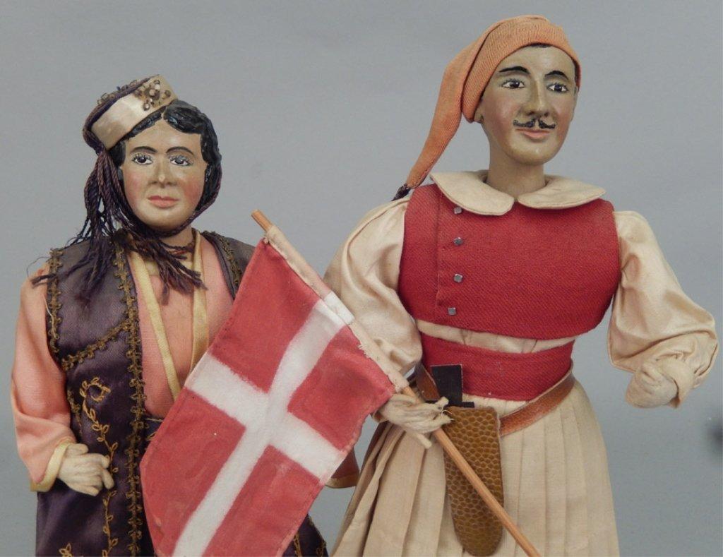 Pair of WPA Dolls Greece - 2