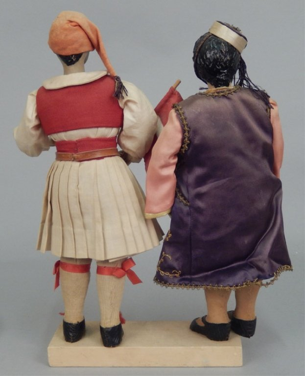 Pair of WPA Dolls Greece - 3