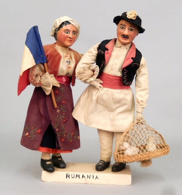 Pair of WPA Dolls Romania