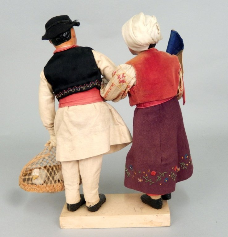 Pair of WPA Dolls Romania - 3