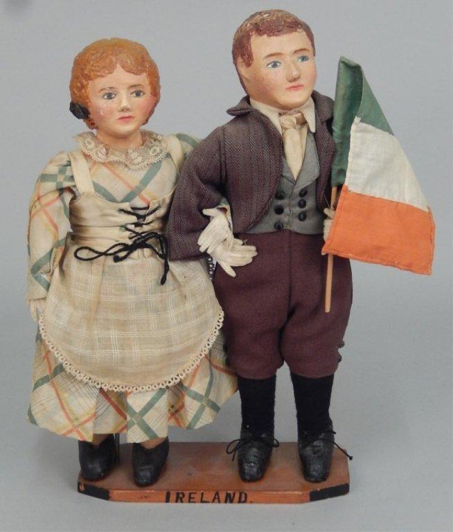 Pair of WPA Dolls Ireland