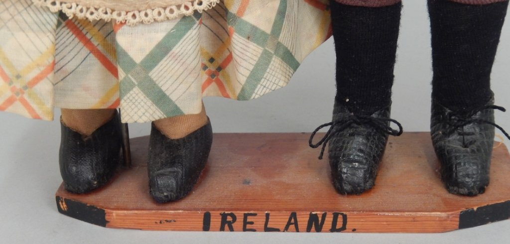 Pair of WPA Dolls Ireland - 2