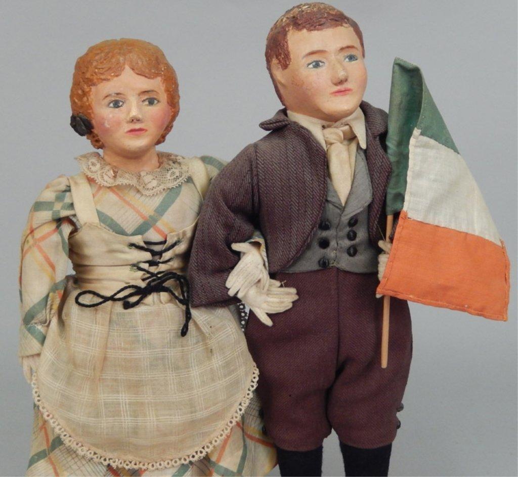 Pair of WPA Dolls Ireland - 3