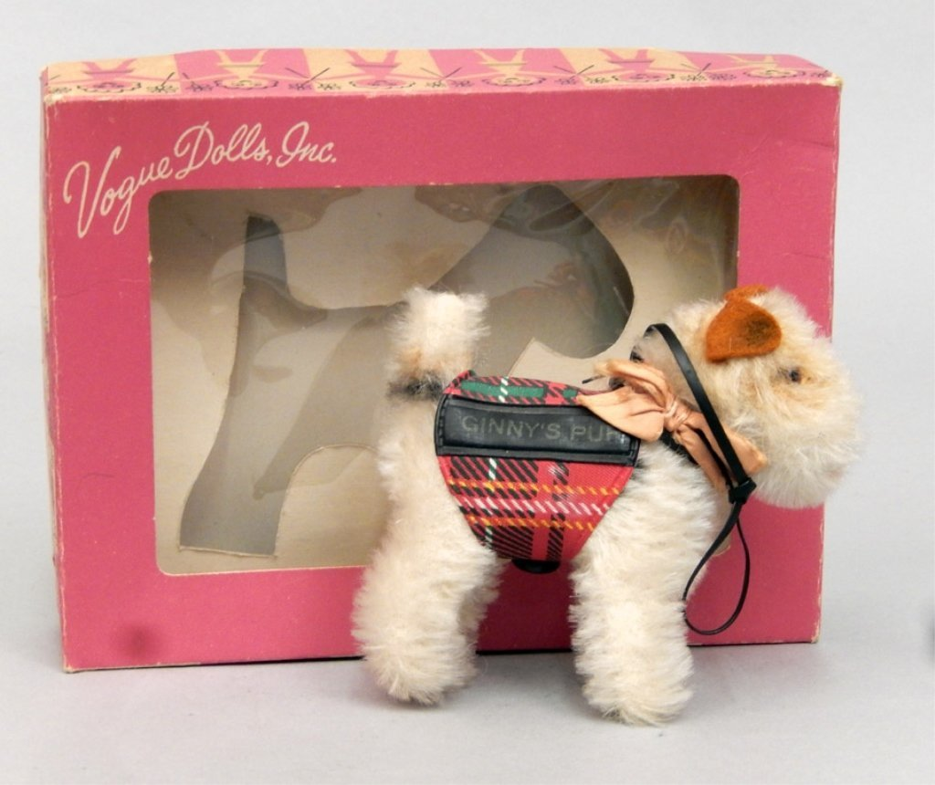 1950's Steiff Ginny Pup Foxy in original box