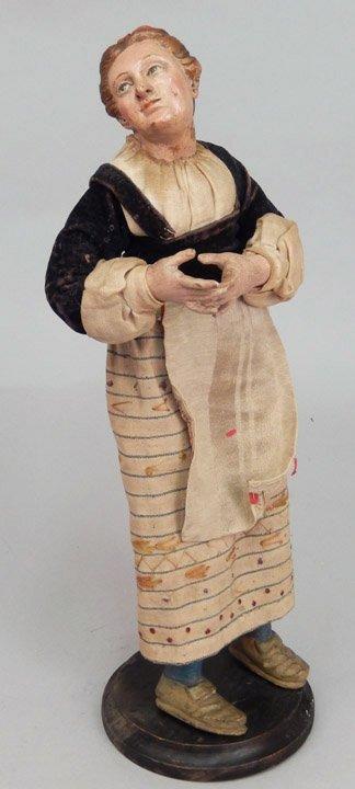 Early 1900's crèche female figure