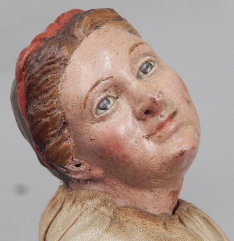 Early 1900's crèche female figure - 3