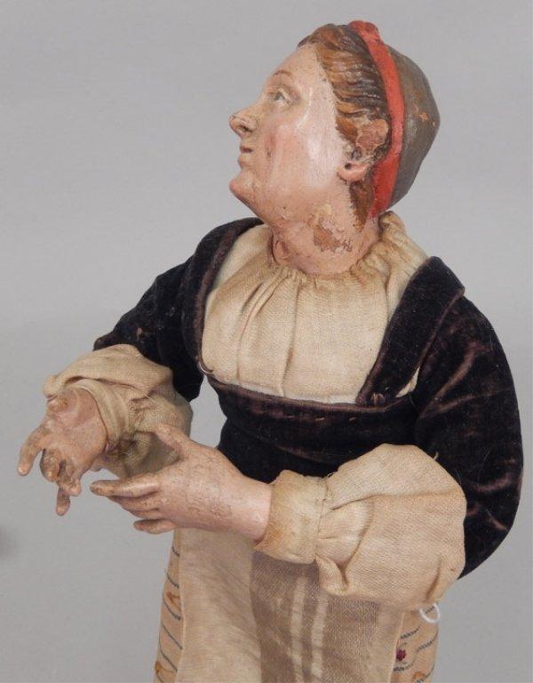 Early 1900's crèche female figure - 4