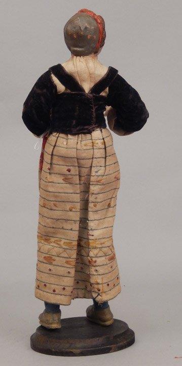 Early 1900's crèche female figure - 5