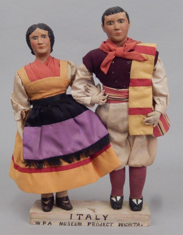 Pair of WPA dolls Italy